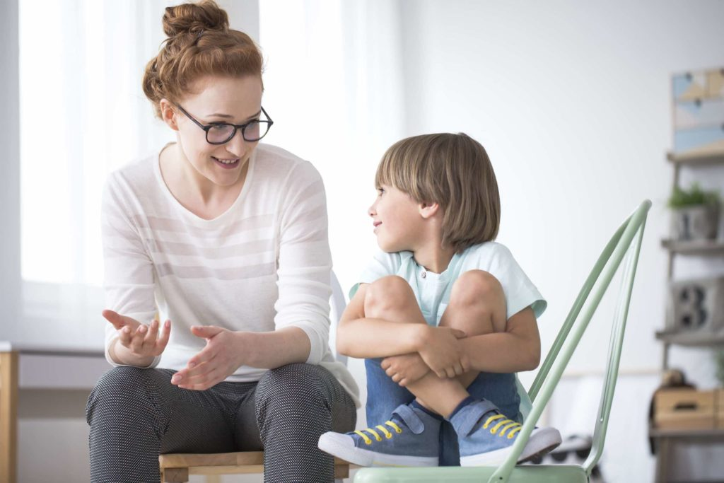 Mom talking to son about the importance of effective time management